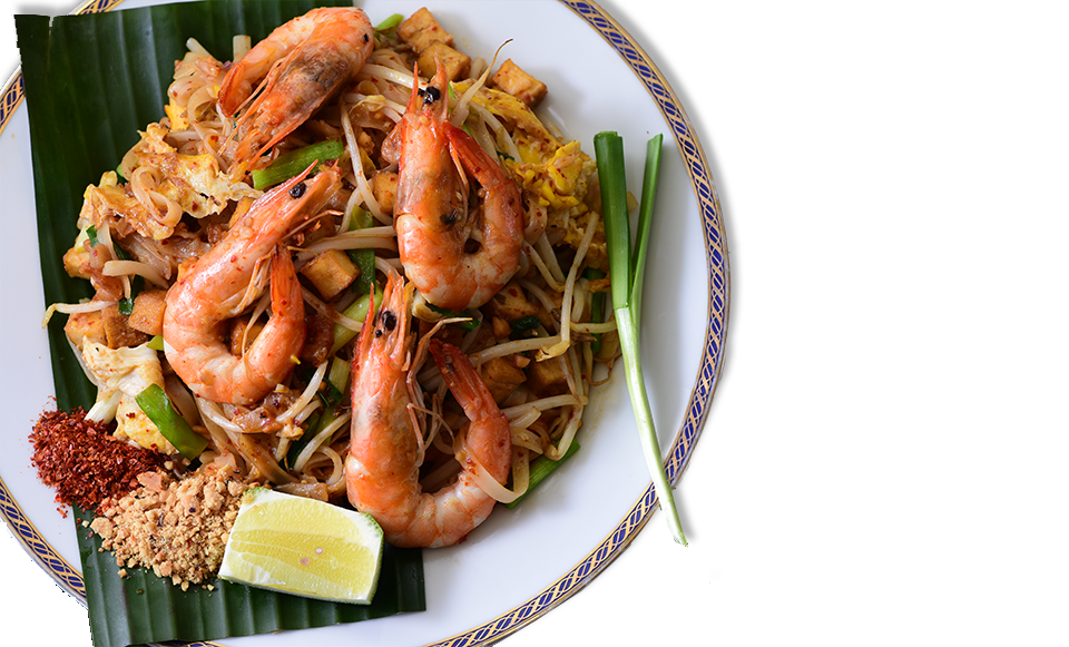 Thai Style Fried Noodles With Shrimp